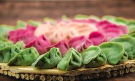 Pastas tradicionales chinas, bolas de masa hervida Imágenes de archivo libres de regalías