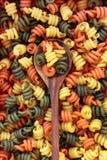 Pastas tricoloras de Trottole foto de archivo