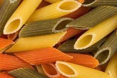 Pastas tricolores del penne Foto de archivo libre de regalías