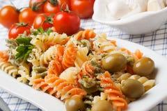 Pastas tricolores italianas Foto de archivo
