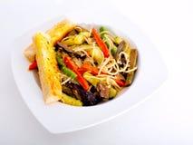 Pastas vegetarianas en aceite de oliva Fotografía de archivo