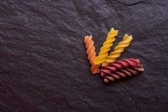 Pastas vegetarianas orgánicas Italia fotografía de archivo libre de regalías