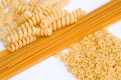 Pastas y espagueti Imagen de archivo libre de regalías