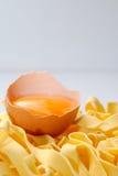 Pastas y huevo Foto de archivo
