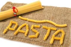 Pastas y lona Foto de archivo libre de regalías
