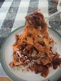 Pastas y setas italianas Foto de archivo