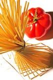 Pastas y tomate Fotografía de archivo libre de regalías
