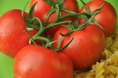 Pastas y tomates Imagen de archivo