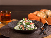 Pastasallad med grönsaker Royaltyfri Fotografi