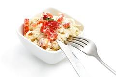 pastaspagetti Arkivbilder