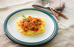 Pastaspagetti Royaltyfria Bilder