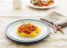 Pastaspagetti Fotografering för Bildbyråer