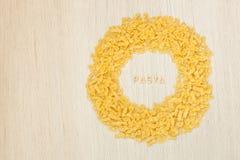 PASTAtext som göras av pastabokstäver Royaltyfria Bilder