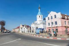 Pastavy St Nicholas kyrka Royaltyfri Foto