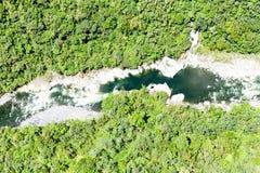 Pastaza flod djupt in i Anderna Cordillera Ecuador arkivfoton