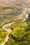 Pastaza flod i det Anderna antennskottet arkivbild