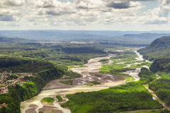 Pastaza River Basin Aerial Shot stock images