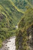 Pastaza River and Leafy Mountains in Banos Ecuador Royalty Free Stock Photos