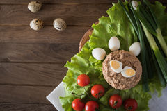 Paste from chicken liver Stock Photography