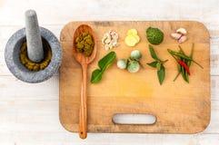 Paste des thailändischen populären Lebensmittels stockfotos