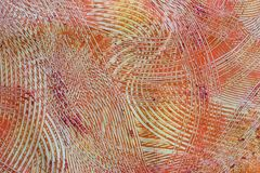 Paste Paper: Orange, Red, and Gray Swirls Stock Image
