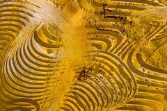 Paste-Papier: Gelbes und grünes Swril Lizenzfreies Stockbild