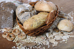 Paste products. Image of bread and paste products Stock Photos