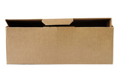 Pasteboard box. Isolated on white Royalty Free Stock Photo