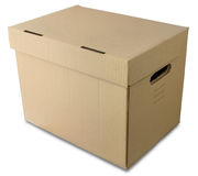 Pasteboard box Royalty Free Stock Image