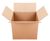 Pasteboard box on the white background. The pasteboard box on the white background Stock Image