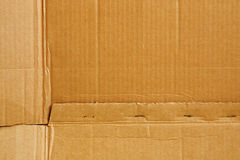 Pasteboard. Sheet of old cardboard. Opened cardboard box Stock Images