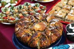 Pastei aan een maaltijd Royalty-vrije Stock Foto
