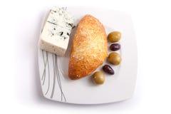 Pastei die met schimmelkaas wordt gevuld Royalty-vrije Stock Afbeeldingen