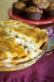 Pastei die van de Pot van de kip wordt de gediend Stock Fotografie