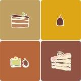 Pastei en snoepjes Royalty-vrije Stock Foto