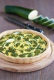 Pastei met courgette en broccoli Royalty-vrije Stock Foto's