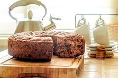 Pastei met droge vruchten en noten voor thee stock foto
