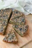 Pastei met greens en spinazie Royalty-vrije Stock Foto