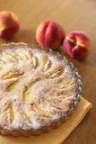Pastei met perziken Stock Foto