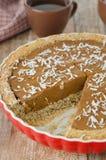 Pastei met pompoen en chocolade Stock Afbeelding