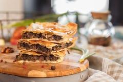 Pastei met reusachtige kippenlever Royalty-vrije Stock Afbeelding