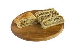 Pastei met vlees en kaas Stock Afbeeldingen