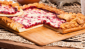 Pastei op de lijst met voedselreeks Royalty-vrije Stock Fotografie