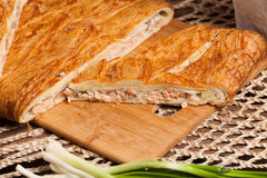Pastei op de lijst met voedselreeks Royalty-vrije Stock Foto