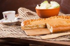 Pastei op de lijst met voedselreeks Royalty-vrije Stock Afbeeldingen