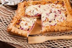Pastei op de lijst met voedselreeks Royalty-vrije Stock Foto's