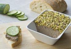 Pastei van kippenlever Stock Foto's