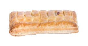 Pasteiappel op isolate witte achtergrond royalty-vrije stock afbeeldingen