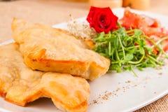 Pasteien met tomaat en kruiden royalty-vrije stock fotografie