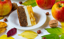 Pasteigelei met appelen Stock Fotografie